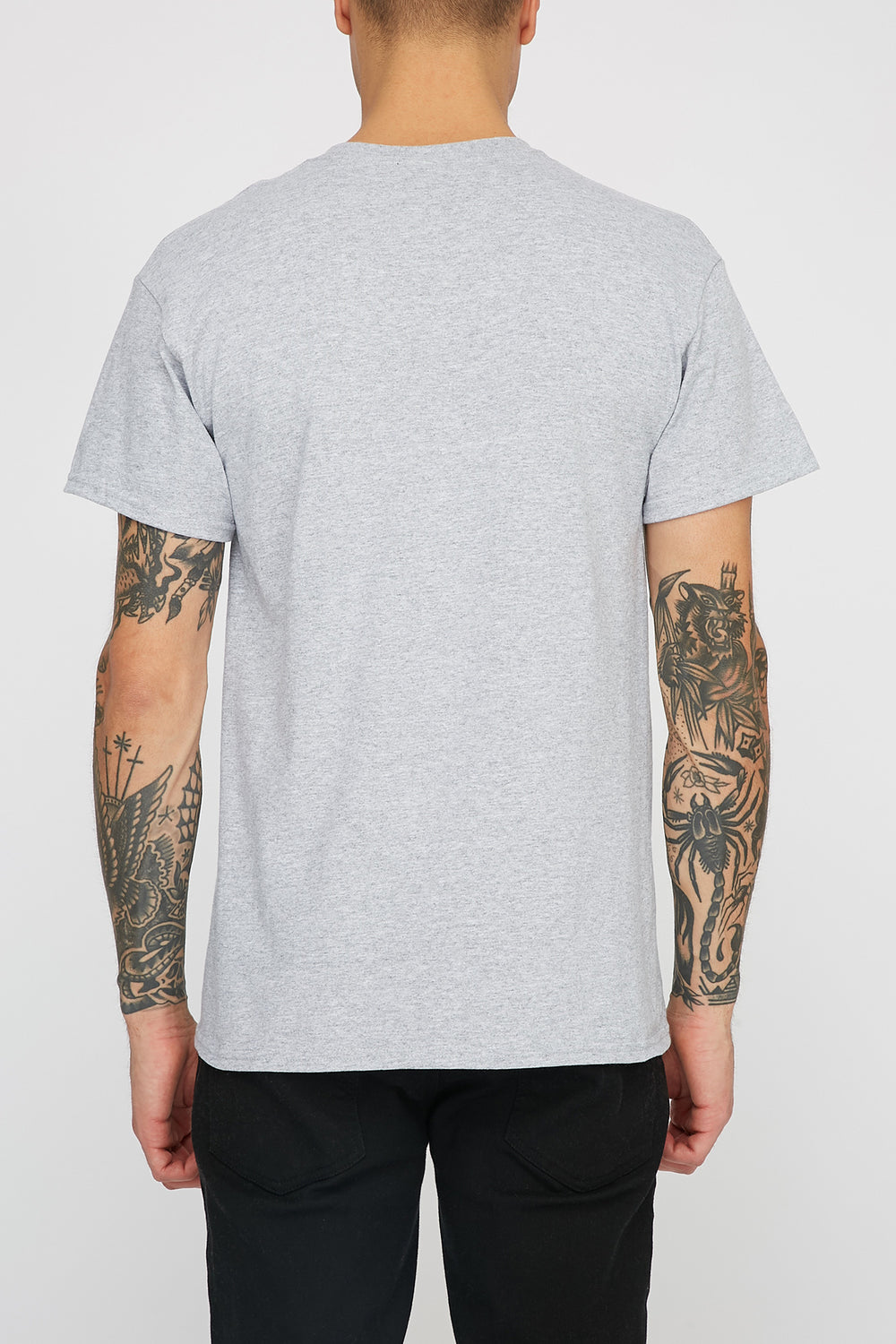 Thrasher Mens Grey Flame Logo T-Shirt Heather Grey