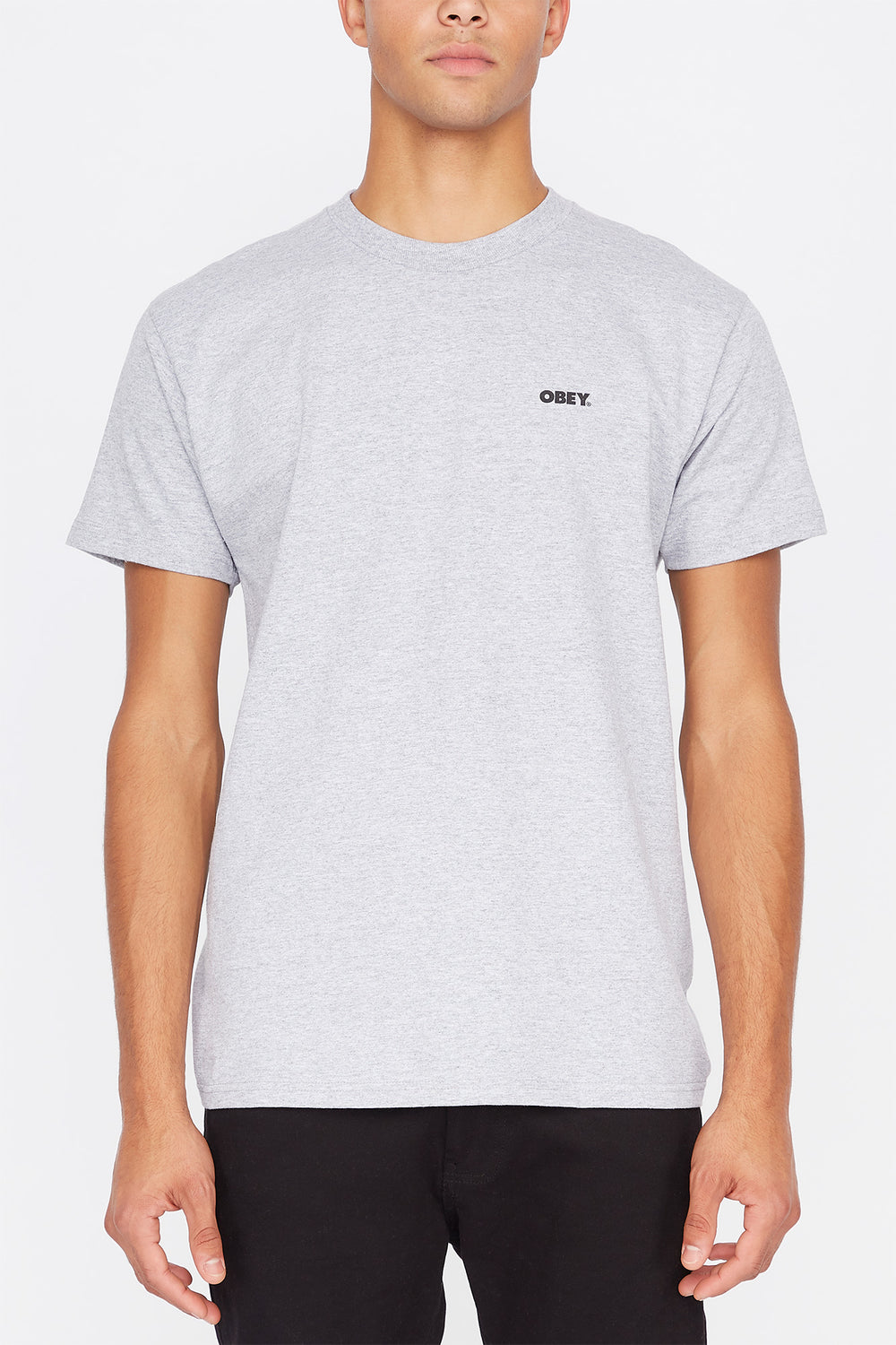 Obey All That Matters T-Shirt Heather Grey