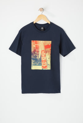 Obey Mens 3 Face Clouds T-Shirt
