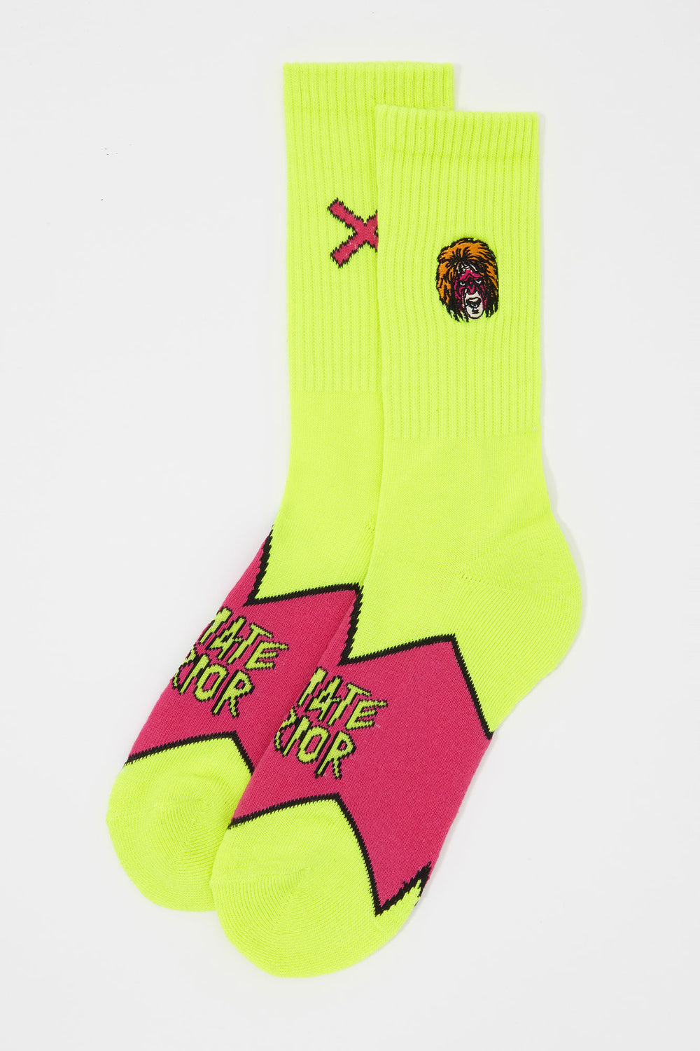 Odd Sox Mens Ultimate Warrior Crew Socks Yellow