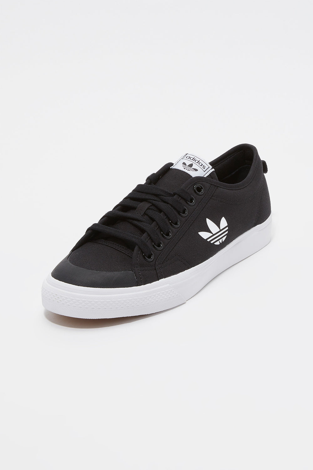 Adidas Mens Black Nizza Trefoil Shoes Black With White