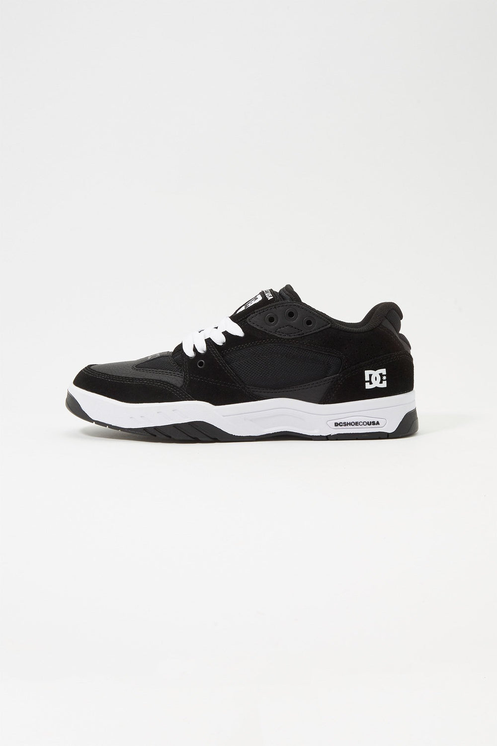 DC Mens Maswell Skate Shoes Black with White