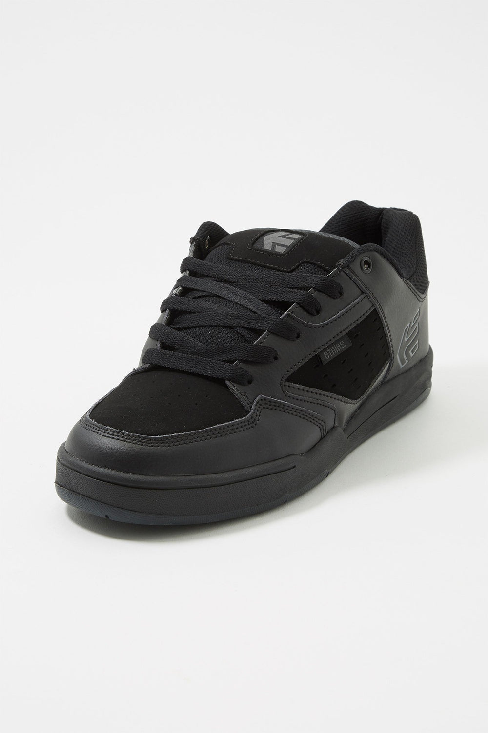 Etnies Mens All Black Cartel Skate Shoes Black