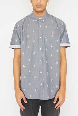 West49 Mens Ditsy Print Button-Up