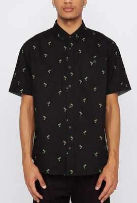 West49 Mens Tropical Print Button-Up Shirt