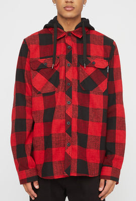 Zoo York Mens Hooded Flannel Shirt