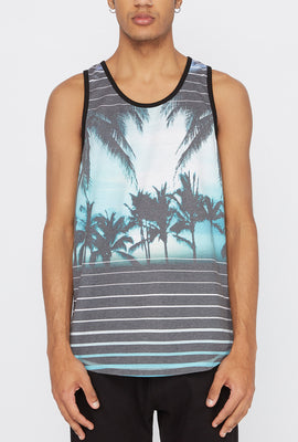 Distortion Mens Palm Trees Tank Top