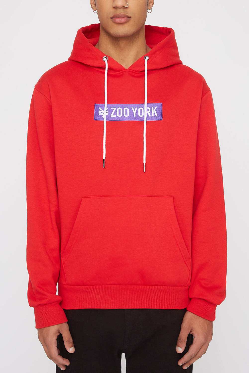Zoo York Mens Classic Patch Logo Hoodie Red