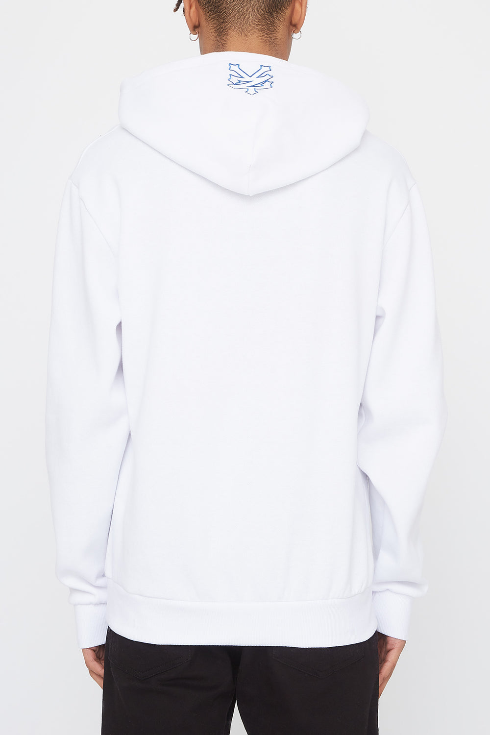 Zoo York Mens Classic Patch Logo Hoodie White