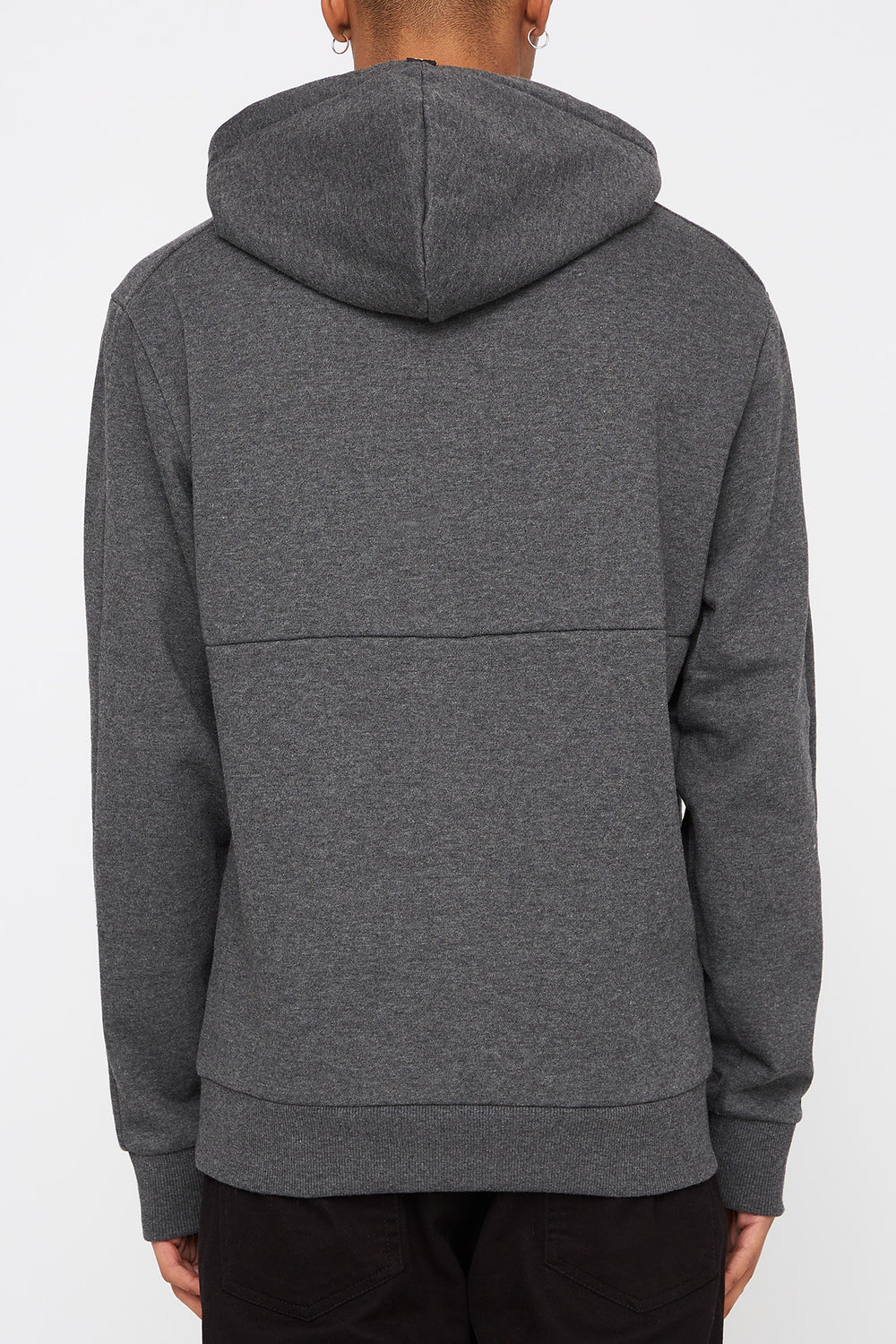 Zoo York Mens Embroidered Logo Hoodie Charcoal