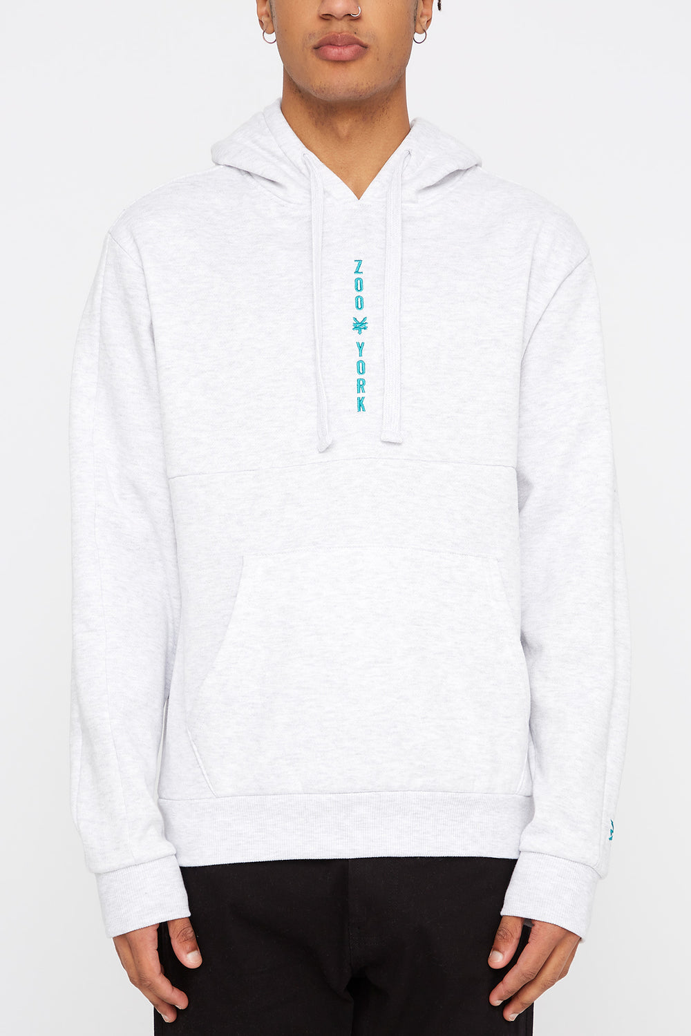 Zoo York Mens Embroidered Logo Hoodie Oatmeal