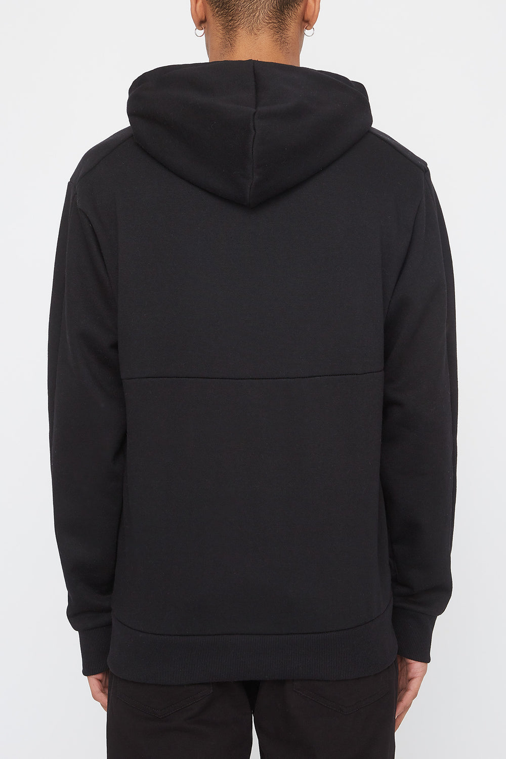 Zoo York Mens Embroidered Logo Hoodie Black