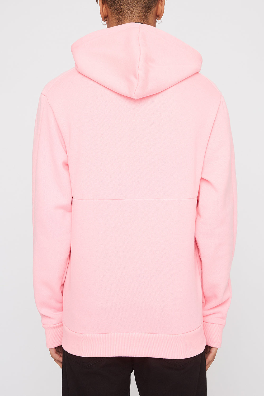 Zoo York Mens Embroidered Logo Hoodie Neon Pink