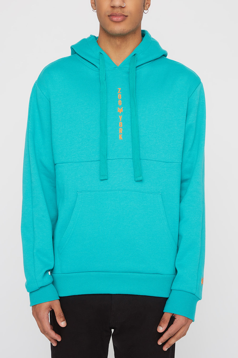Zoo York Mens Embroidered Logo Hoodie Jade
