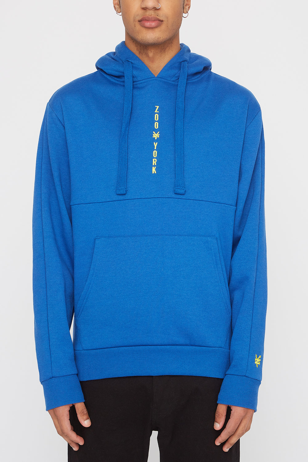 Zoo York Mens Embroidered Logo Hoodie Blue