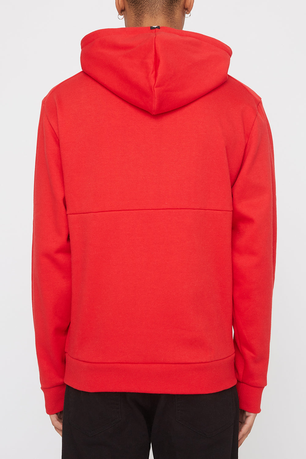 Zoo York Mens Embroidered Logo Hoodie Red