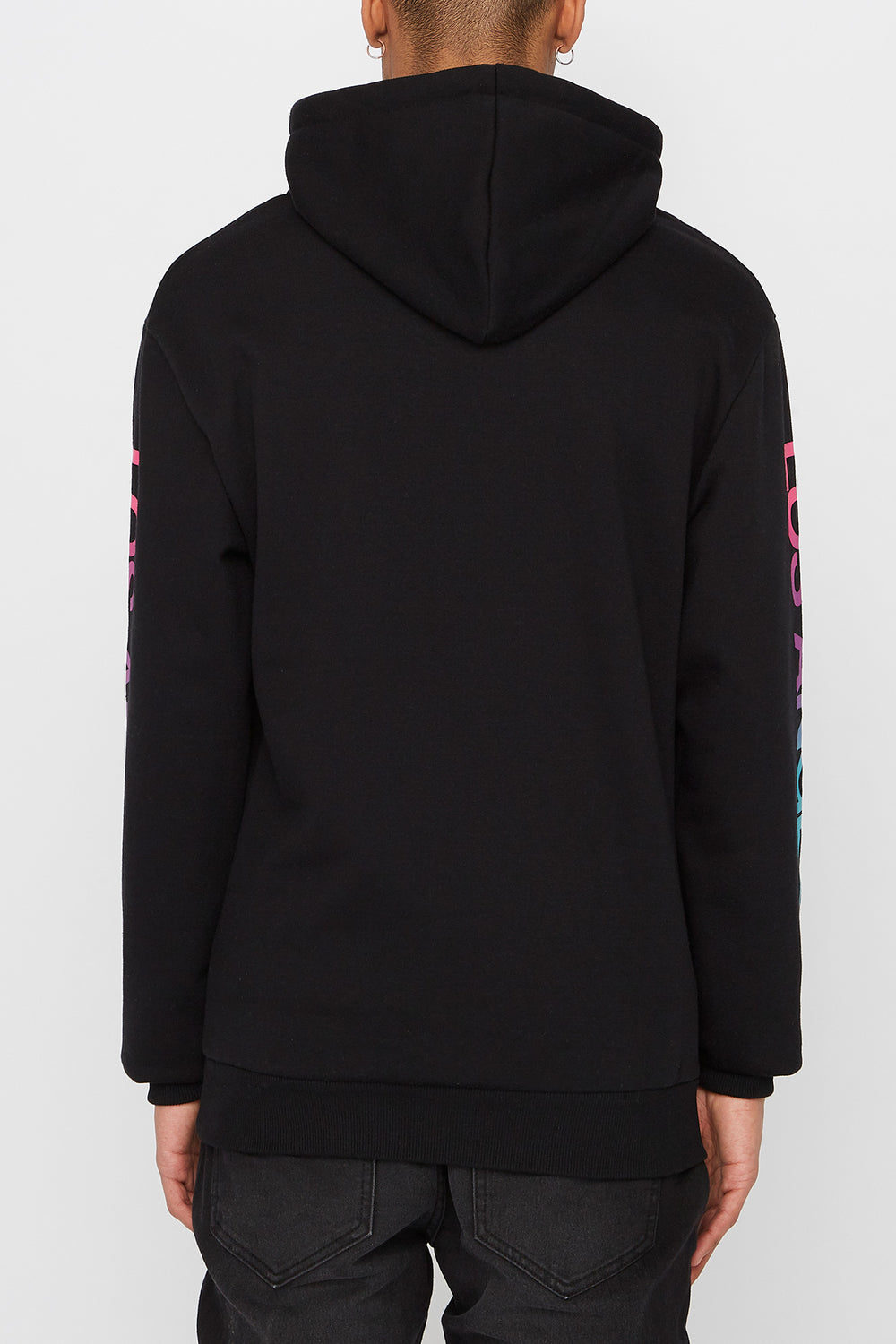 Young & Reckless Mens Gradient Logo Hoodie Black
