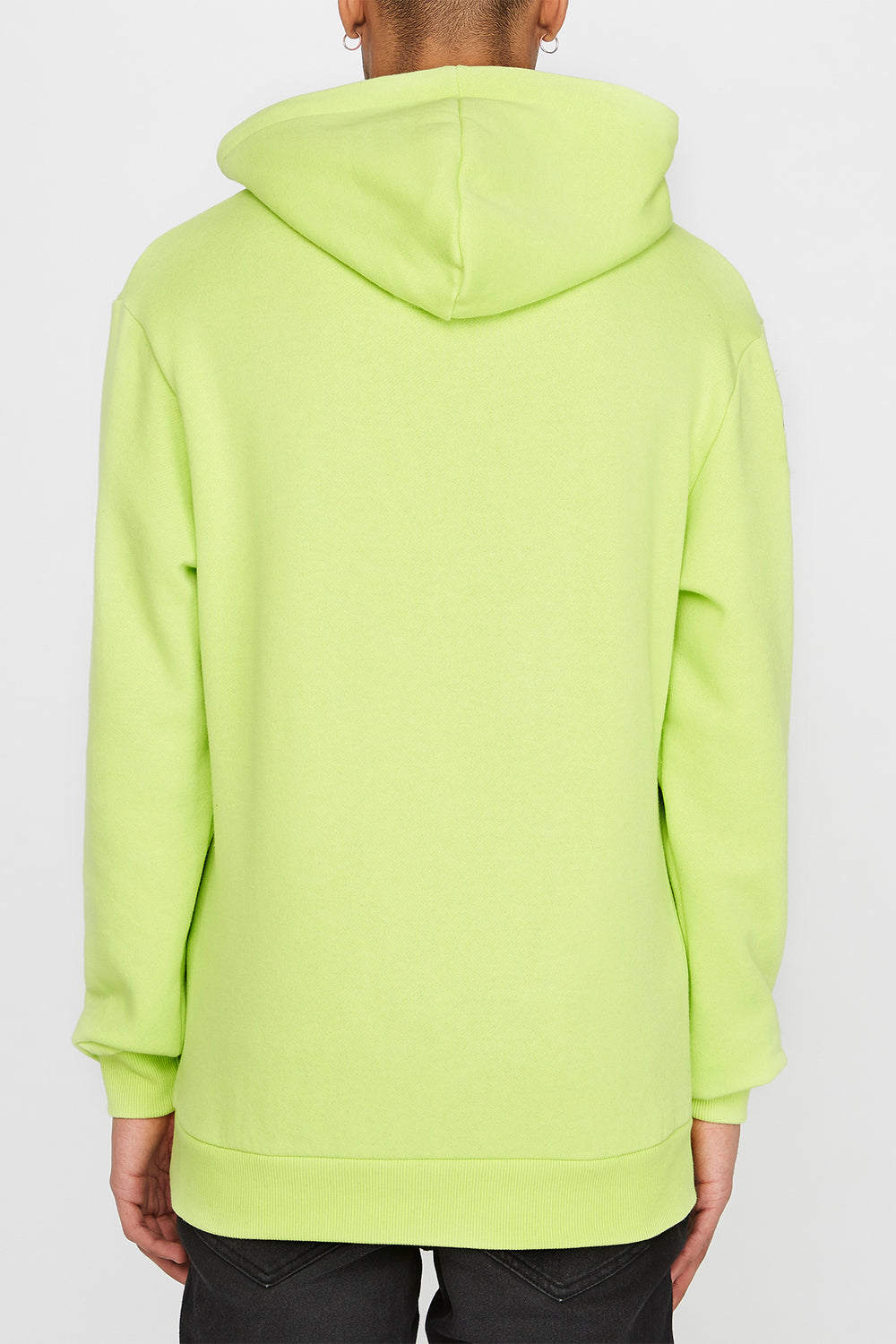 Young & Reckless Mens Cursive Logo Hoodie Neon Green