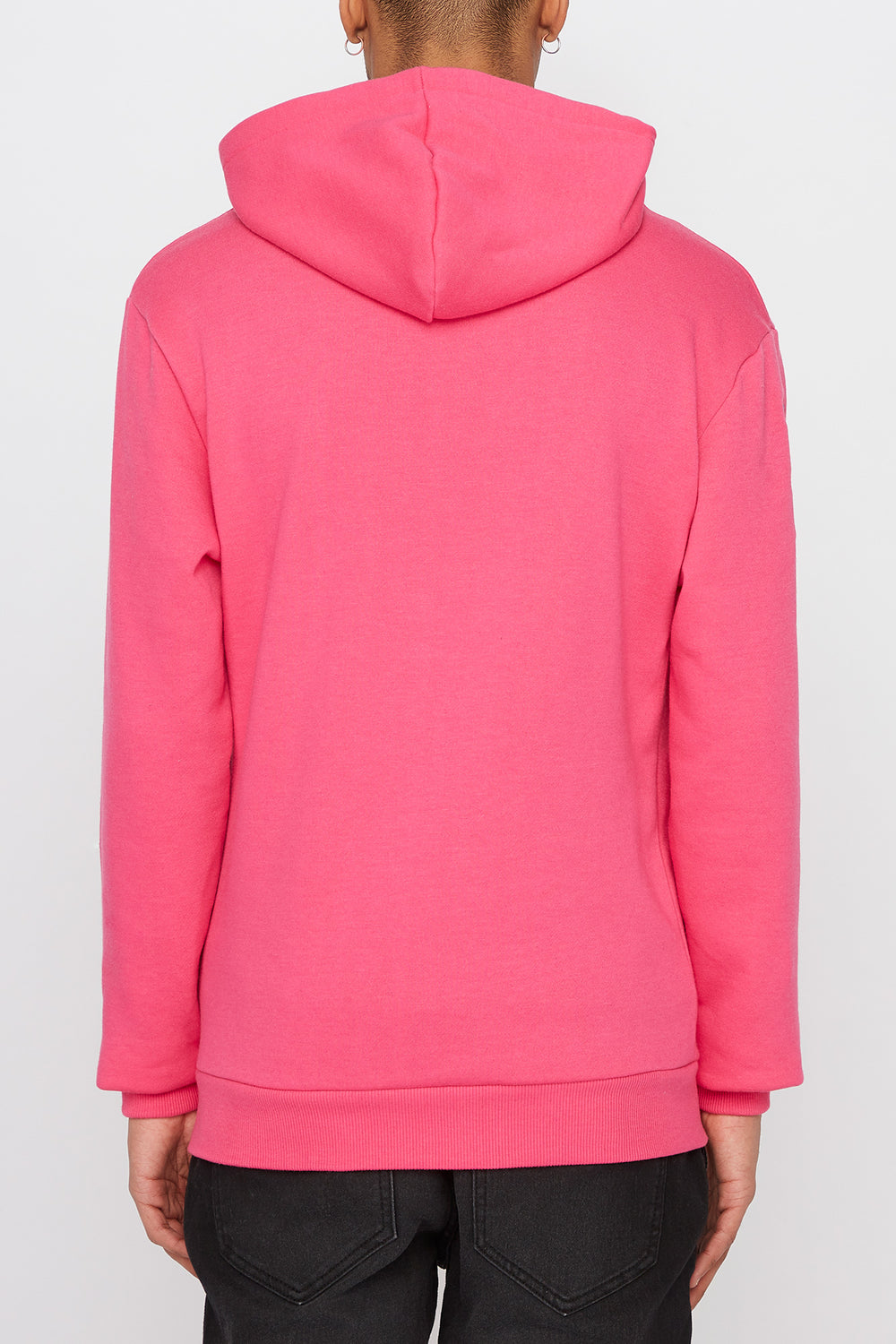 Young & Reckless Mens Cursive Logo Hoodie Magenta