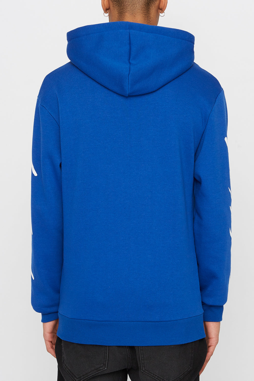 Young & Reckless Mens 90s Style Logo Hoodie Blue