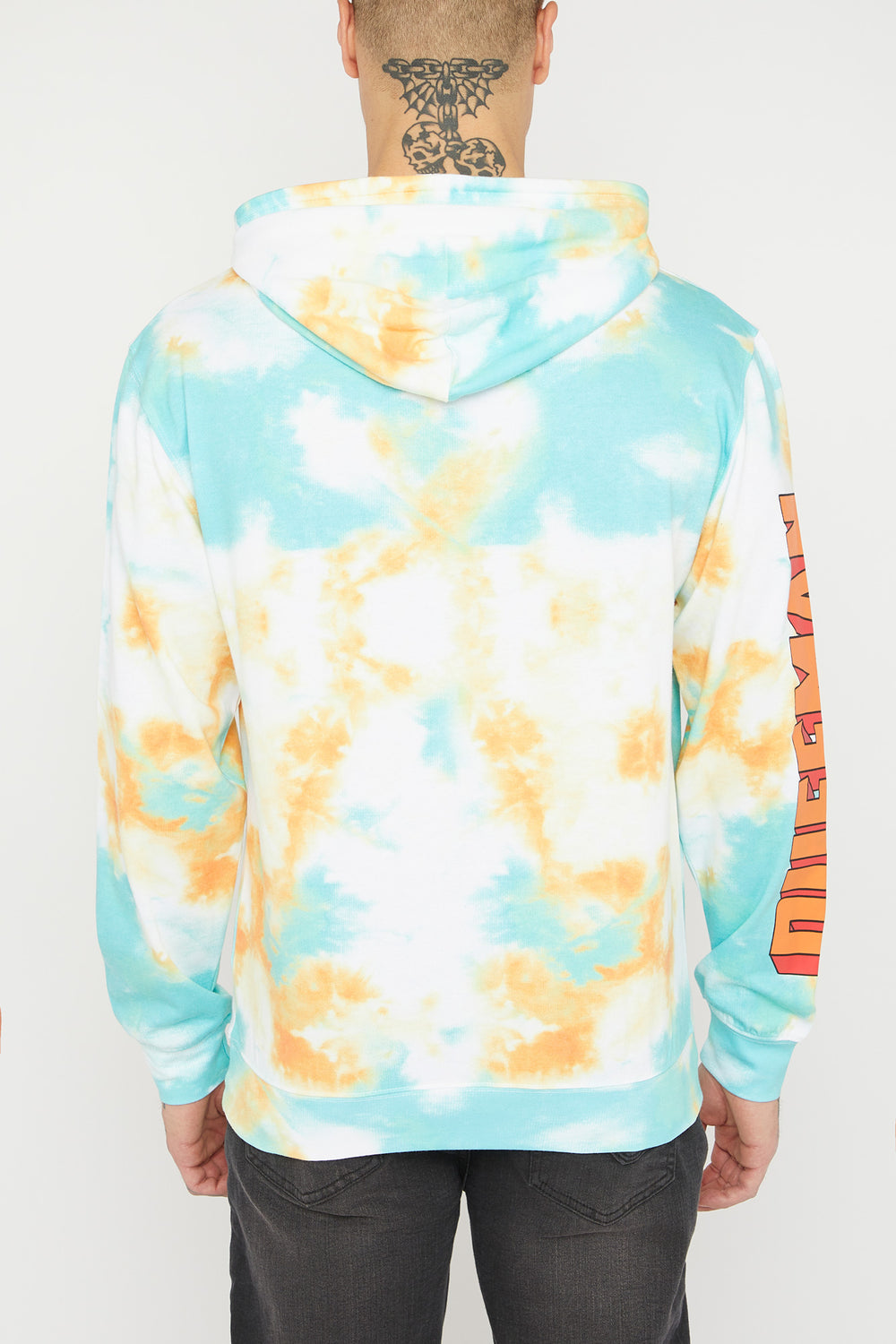 The Simpsons Duffman Tie-Dye Hoodie Orange