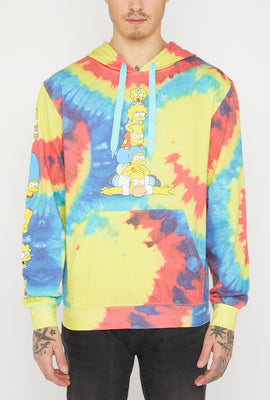 The Simpsons Pile-On Tie-Dye Hoodie