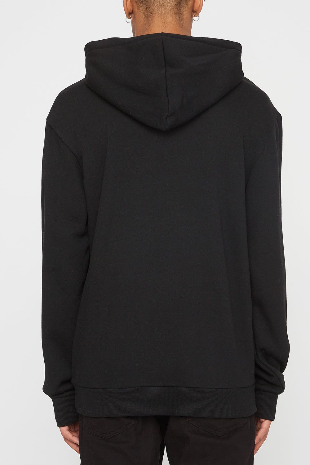 Young & Reckless Mens Neon Popover Hoodie Black