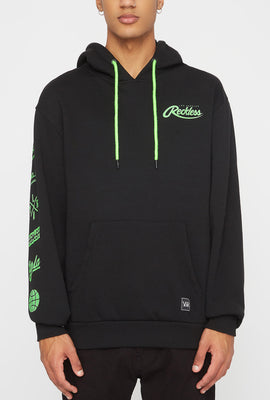 Young & Reckless Mens Embroidered Neon Logo Hoodie