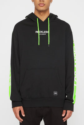 Young & Reckless Mens LA Neon Side Tape Popover Hoodie