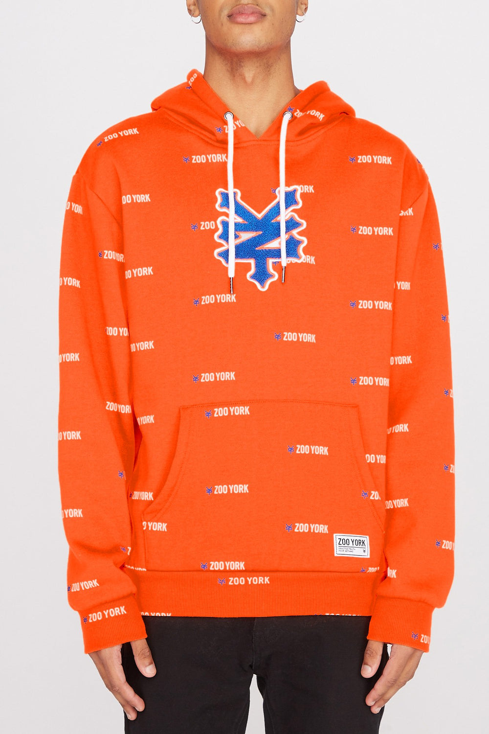 Haut À Capuchon Logo Patch Chenille Zoo York Homme Orange fluo