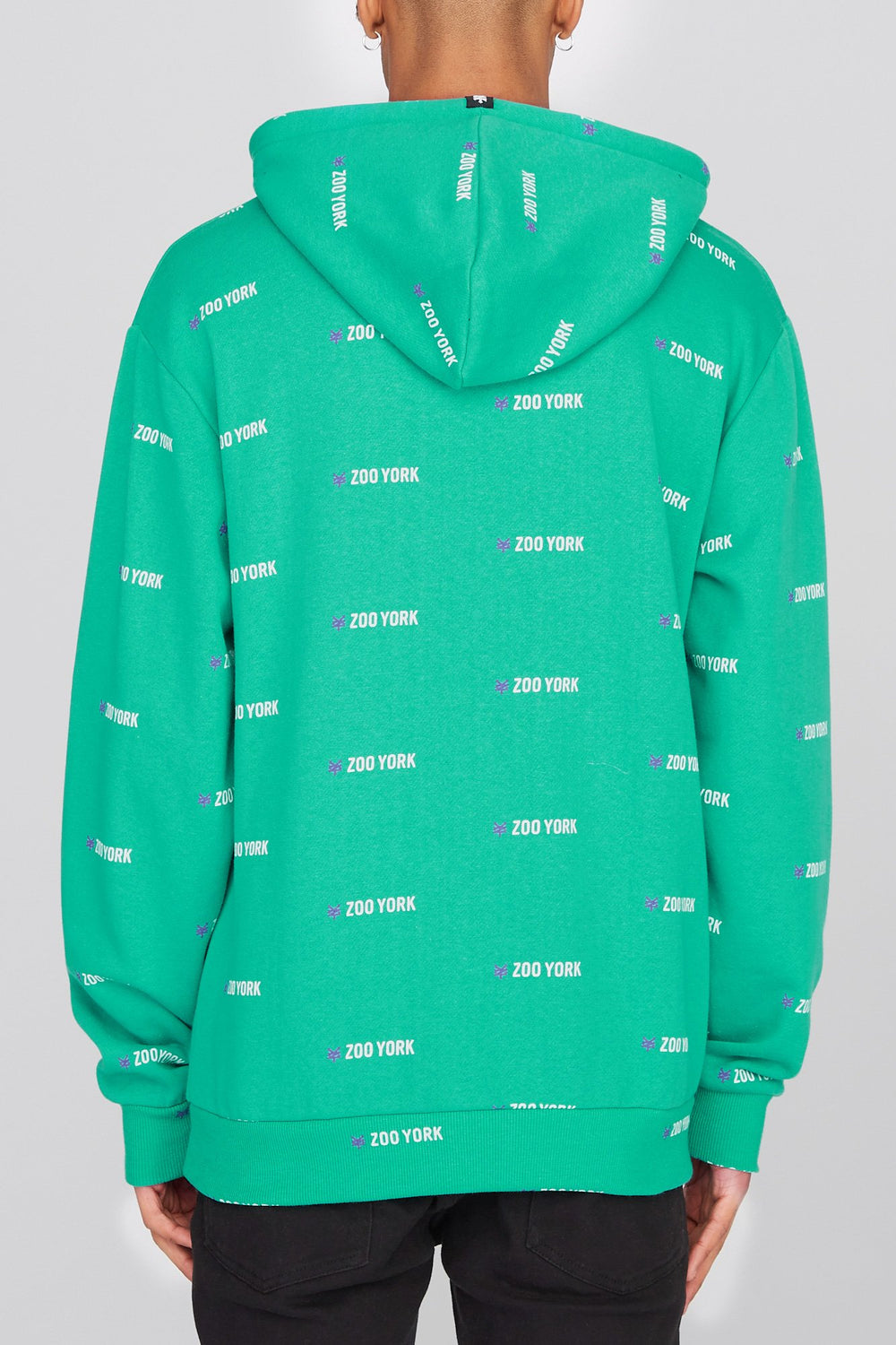 Zoo York Mens Chenille Patch Logo Hoodie Jade