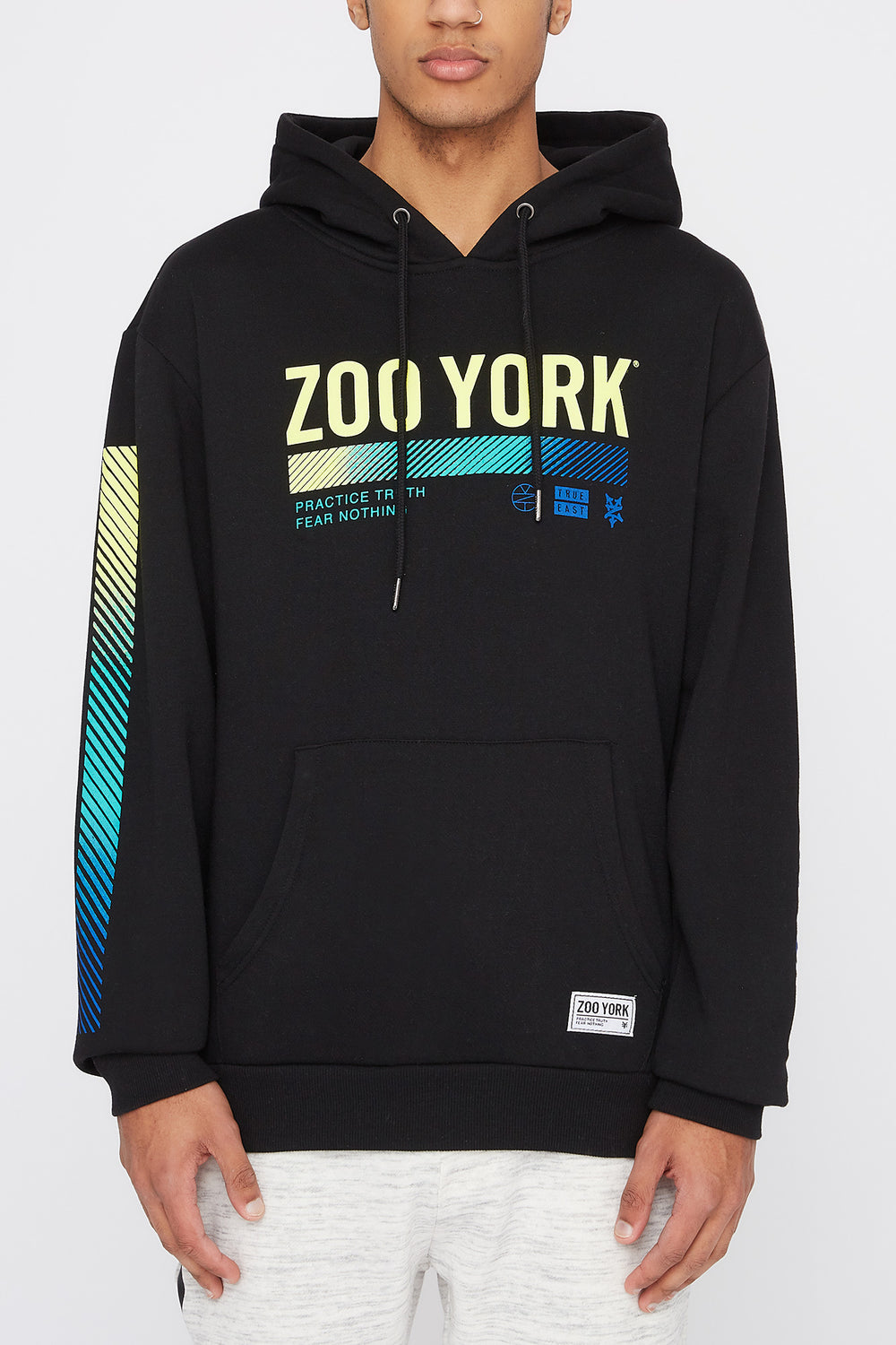Zoo York Mens Gradient Logo Hoodie Black
