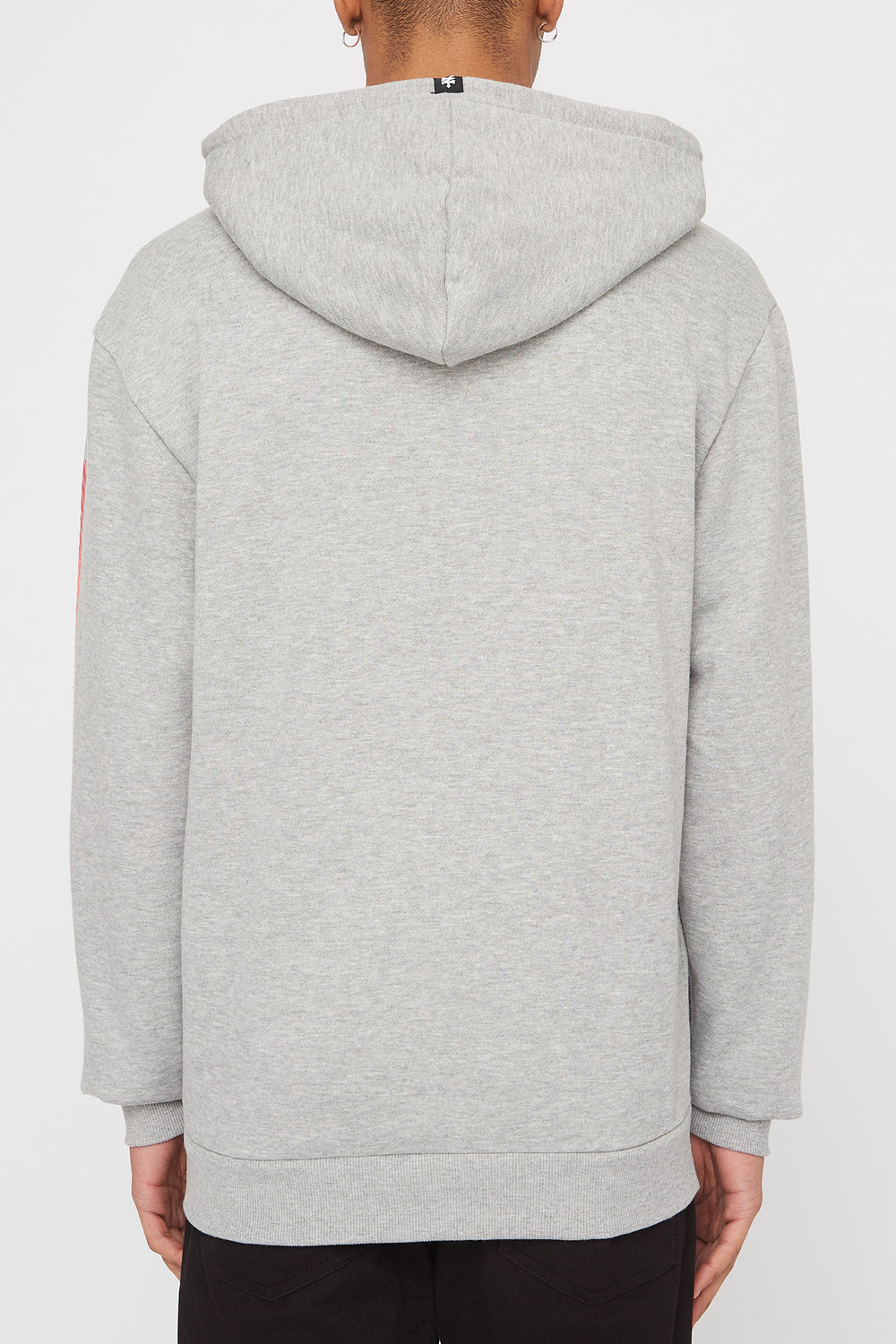 Zoo York Mens Gradient Logo Hoodie Heather Grey