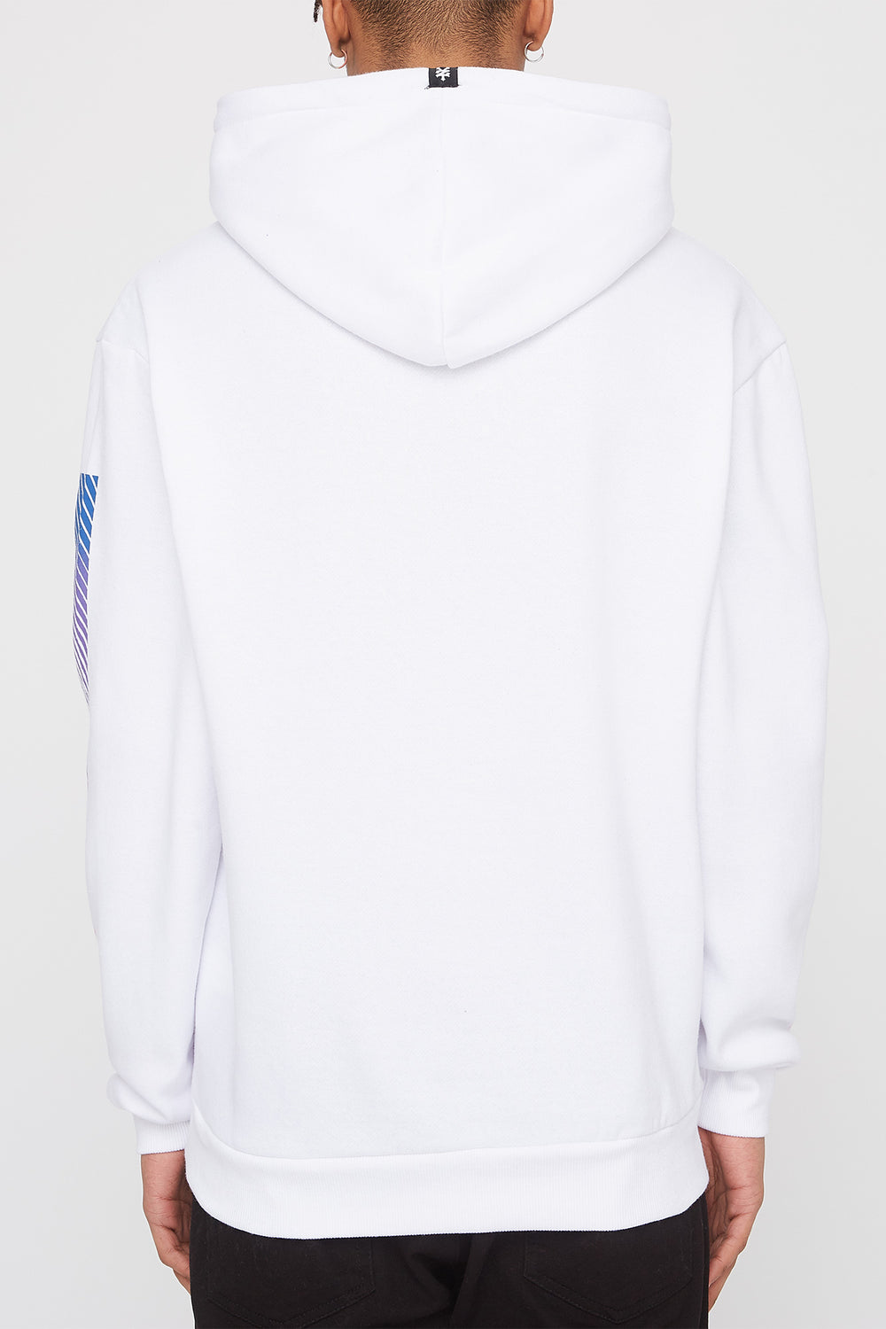 Zoo York Mens Gradient Logo Hoodie White