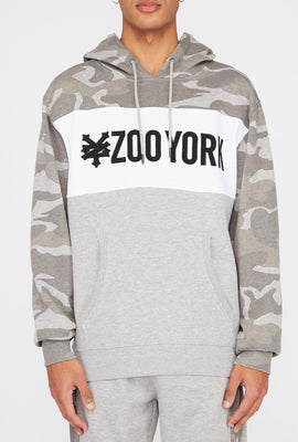 Zoo York Mens Camo Colour Block Hoodie