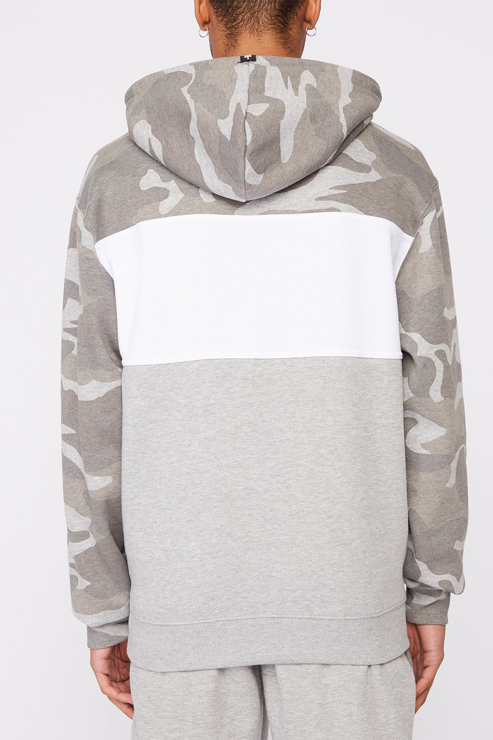 Zoo York Mens Camo Colour Block Hoodie Gingham