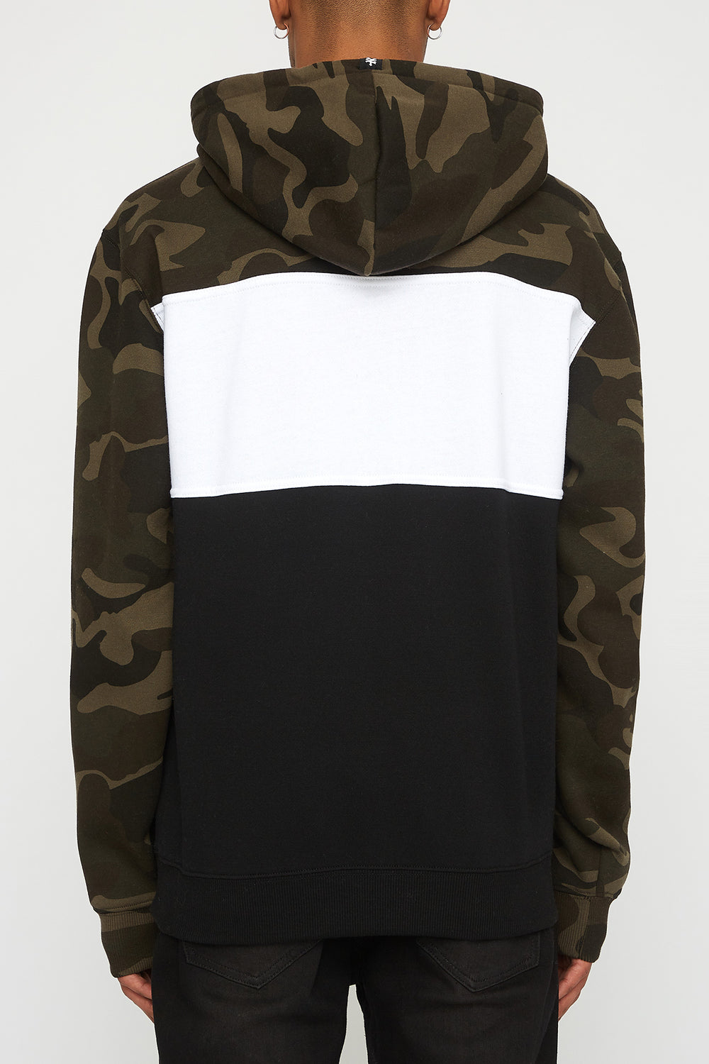 Zoo York Mens Camo Colour Block Hoodie Camouflage