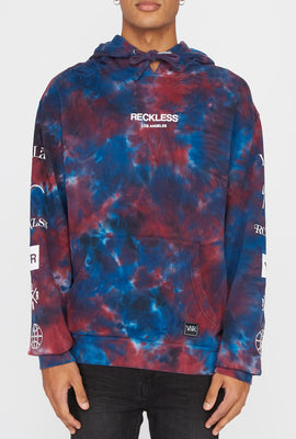 Young & Reckless Mens Tie-Dye Popover Hoodie