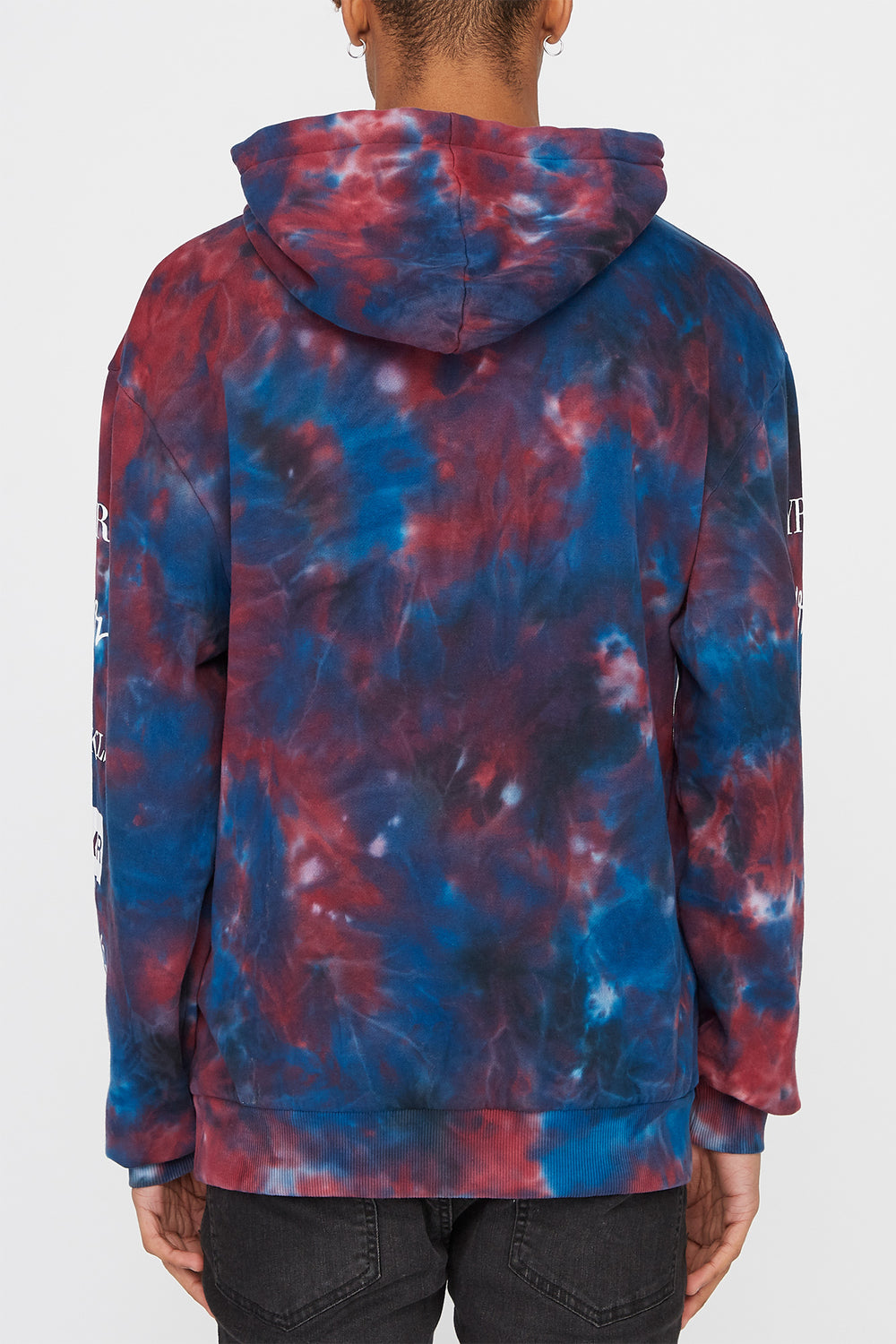 Young & Reckless Mens Tie-Dye Popover Hoodie Blue