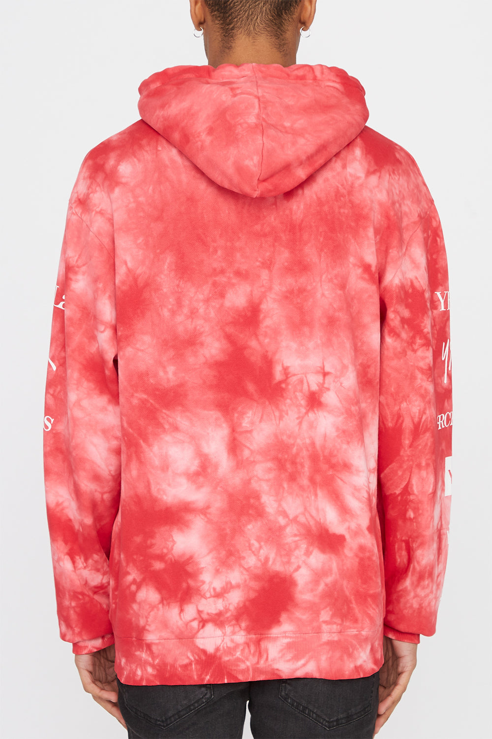 Young & Reckless Mens Tie-Dye Popover Hoodie Red