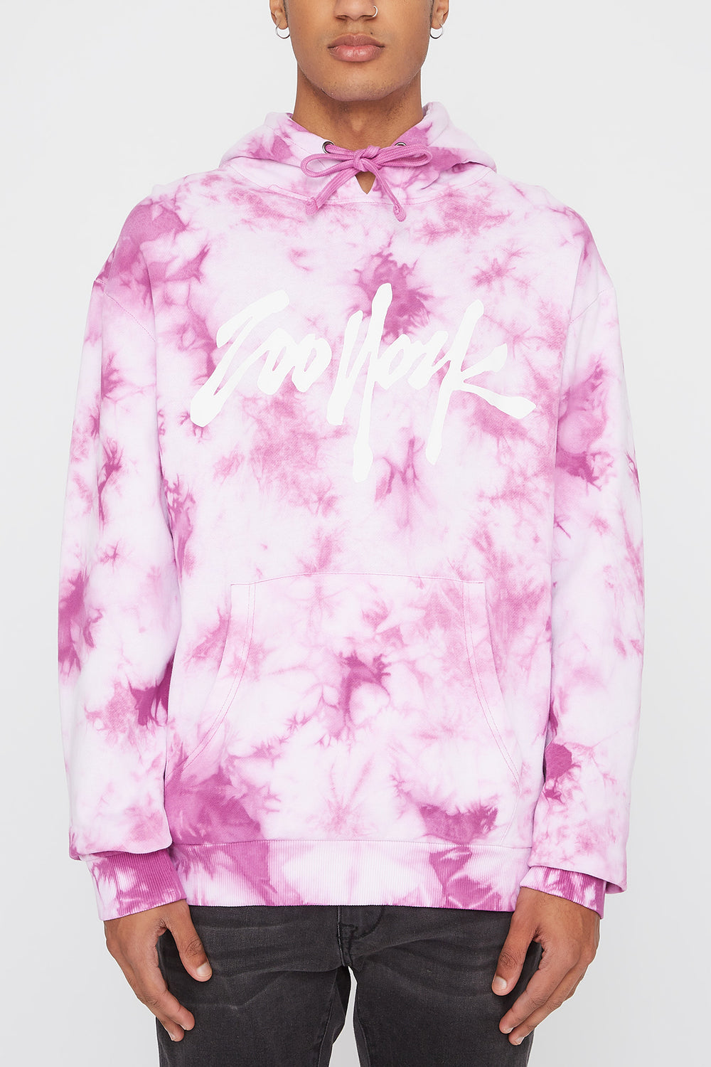 Zoo York Mens Tie-Dye 5 NYC Boroughs Hoodie Purple
