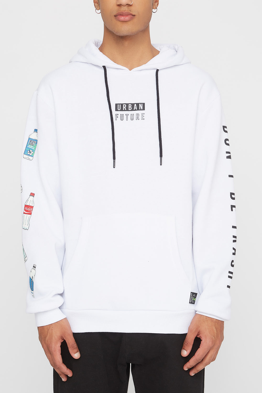 REPREVE® Mens Eco-Friendly Hoodie White