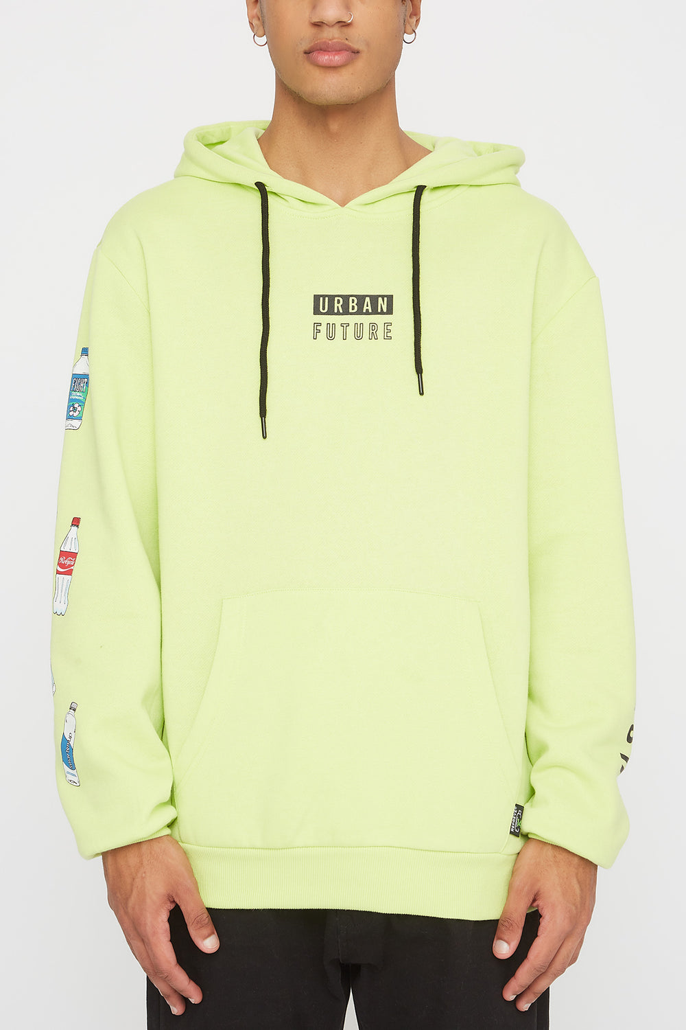 REPREVE® Mens Eco-Friendly Hoodie Neon Green