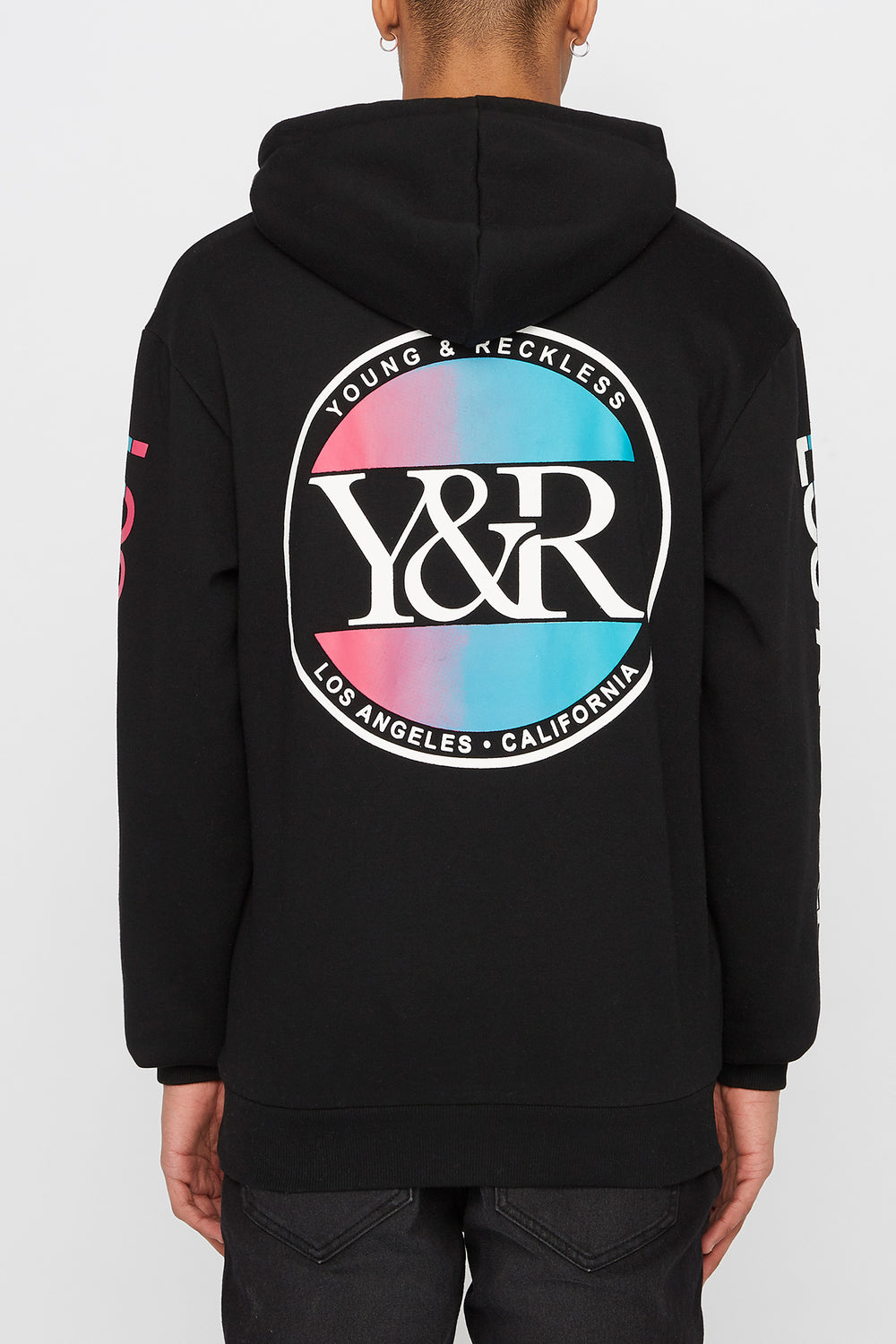 Young & Reckless Mens Circle Logo Hoodie Black