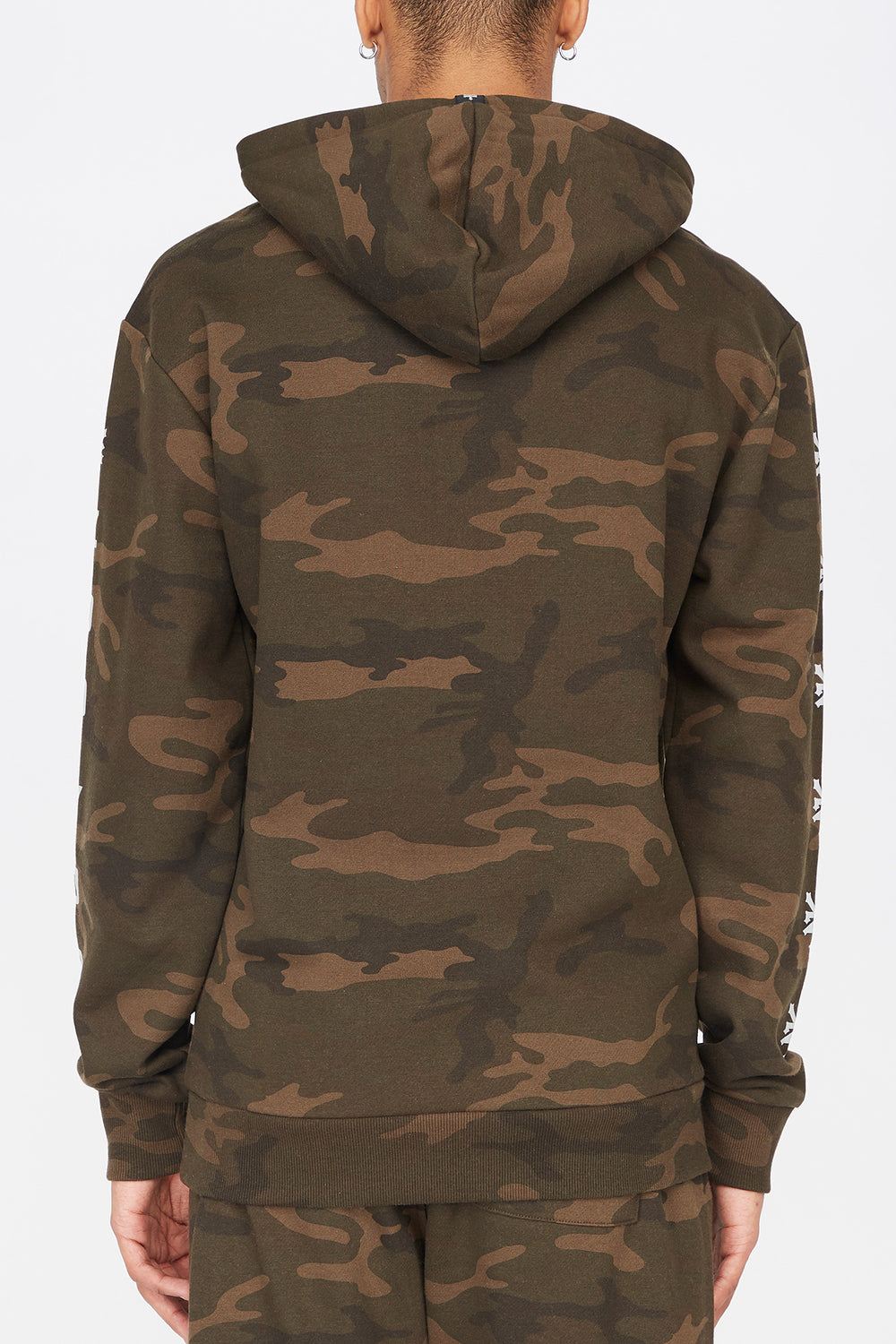 Zoo York Mens Camo Popover Hoodie Camouflage