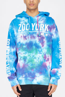 Zoo York Mens Fear Nothing Tie-Dye Hoodie