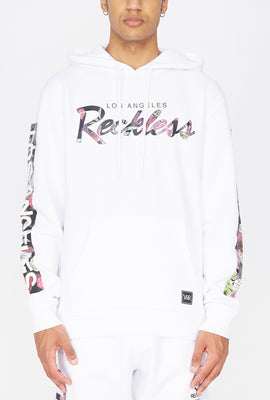 Young & Reckless Mens Floral Fill Hoodie