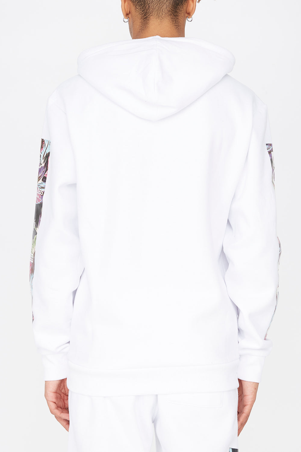 Young & Reckless Mens Floral Fill Hoodie White