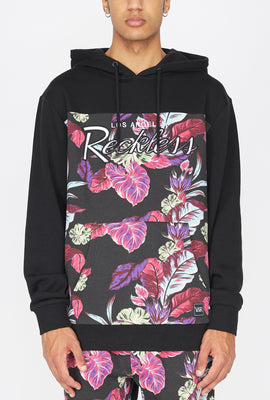 Young & Reckless Mens Floral Print Hoodie