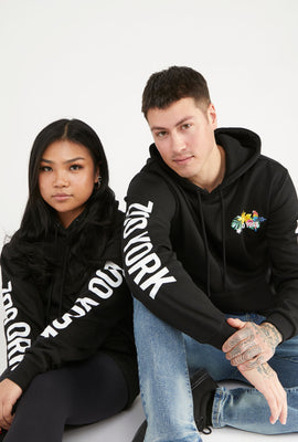 Zoo York Unisex Tropical Logo Black Hoodie